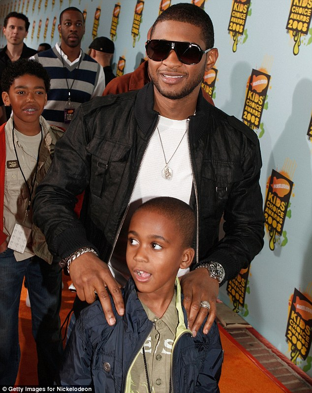 Tragic: The incident comes after Usher's stepson Kile Glover,pictured here, tragically passed away at the age of 11 last year following a jet-ski accident
