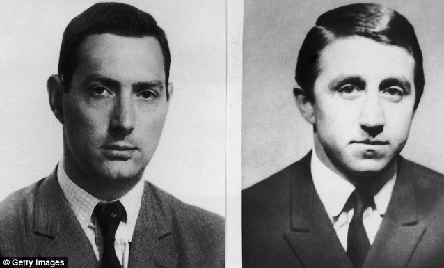 Hunted: Mugshots of Bruce Reynolds (left) and Roy James (right) were also issued by detectives in the aftermath of the £2.6 million robbery