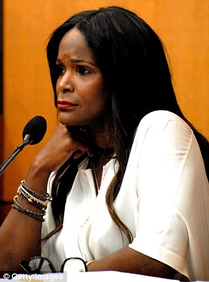 Custody: Tameka Raymond, pictured in court last August, has re-launched her bid for full custody rights
