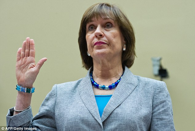 Testify: Lois Lerner (pictured) who headed the division that oversees exempt organizations invoked the Fifth Amendment before Congress recently when questioned about IRS practices