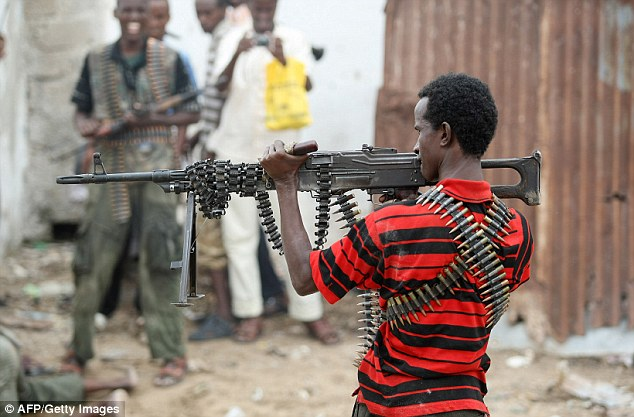 Loss: It is believed the supplies were stolen by Al-Shabaab, the Somali-based cell of Al Qaeda, and burnt
