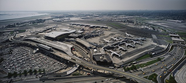 Operations at JFK International airport were not disrupted by the report of a chemical nerve agent being discovered at a mail facility