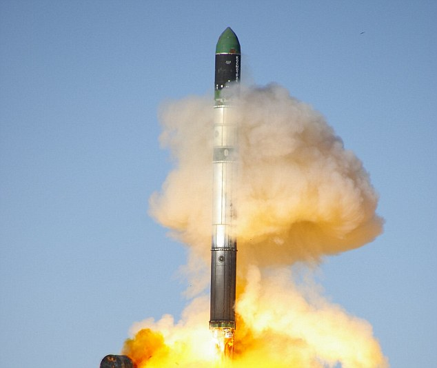 A Russian rocket of the type used by Nigeria to launch satellites