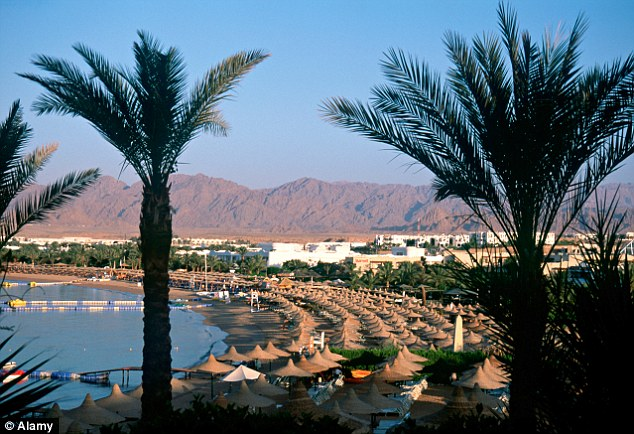 Abroad: More than 40,000 UK tourists are in the strife-torn country, most of them at popular beach destinations such as Sharm El Sheikh (file picture)