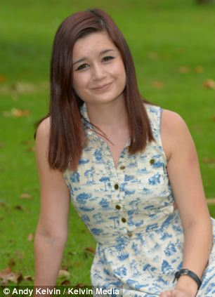 Achiever: With help from her teacher Tony Lyons, Chelsea McCluskey returned to school after dropping out when she was living on the streets