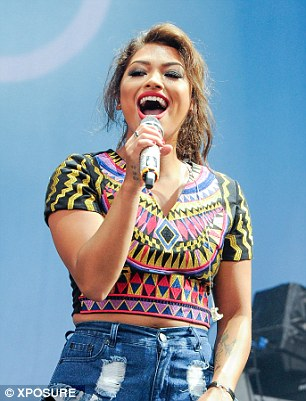 Rochelle Humes (left) and Vanessa White delights fans at the V Festival, which continues over the course of the weekend
