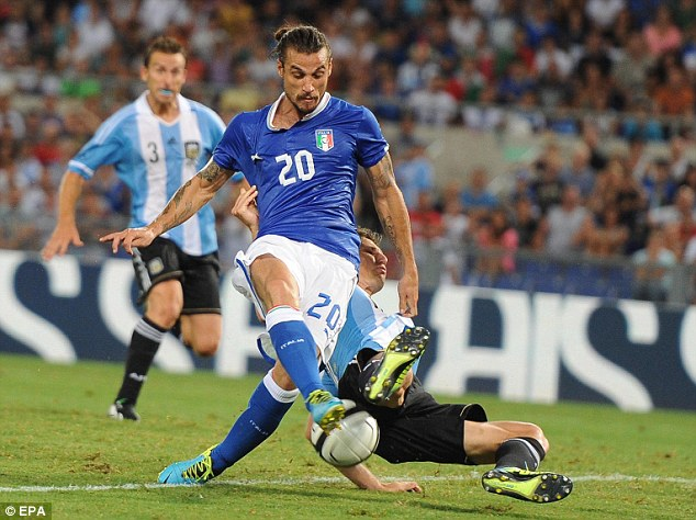 International class: Osvaldo has scored three goals in nine caps for Italy