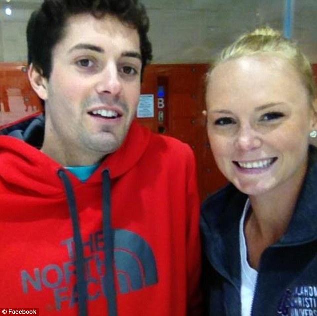 Sweethearts: Sarah Harper has been left heartbroken after her boyfriend Chris Lane was gunned down in a senseless killing on Friday