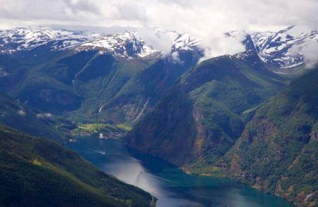 Noruega, el fiordo de Noruega, Aurlandsfjord