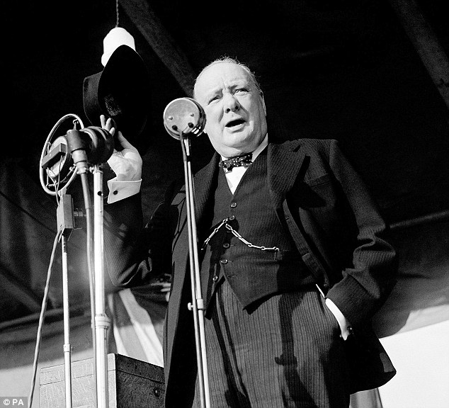 Winston Churchill giving his less famous Christmas shopping speech.