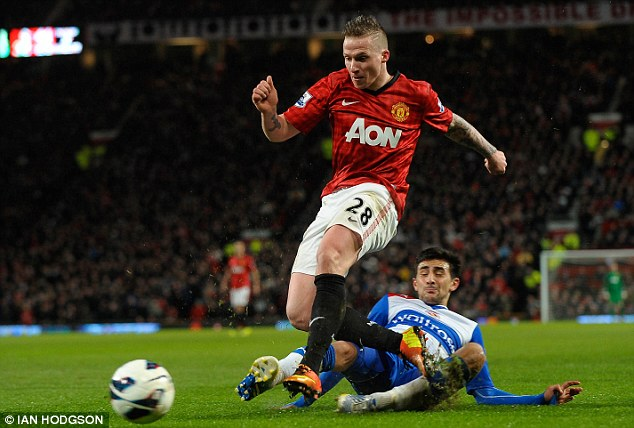 Bit-part: Buttner made 13 appearances for United last season, five of which were in the league