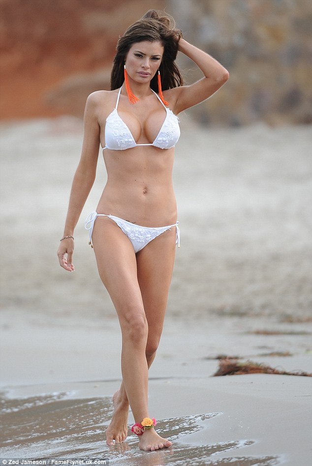 Look at that body: TOWIE star Chloe Sims shows of her best poses on a beach photoshoot in St Tropez