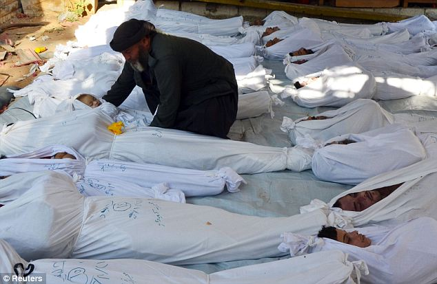 Hundreds died in the alleged chemical attacks on Wednesday, including many women and children
