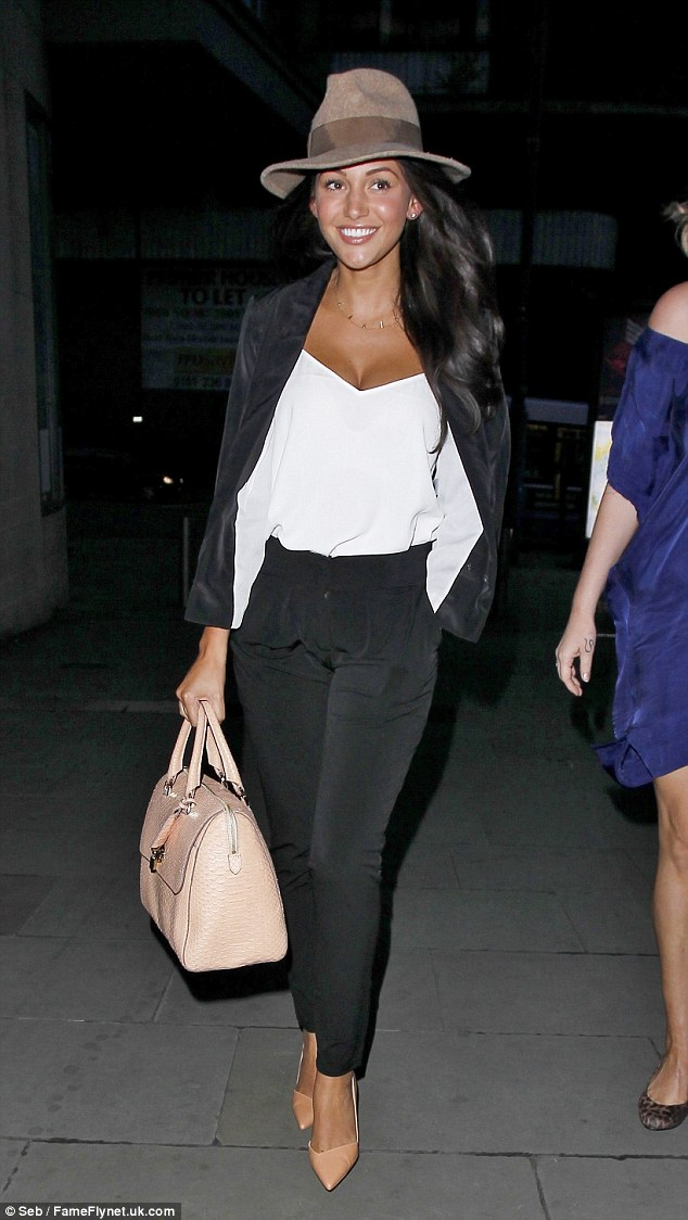 Arm candy: Michelle Keegan carries another fancy bag. The allegations have not been made in connection with any star in particular