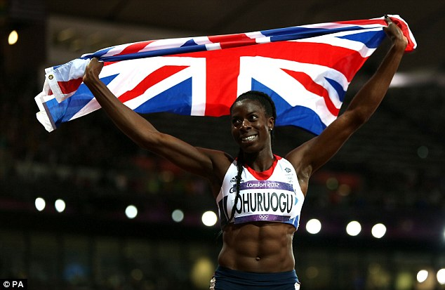 Flying the flag: World champion Christine Ohuruogu was an inspiration to her British team-mates
