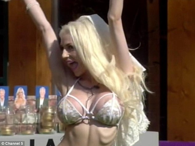She's moved on to just her bras now: It was only day five and Courtney is now parading around in a skimpy bra