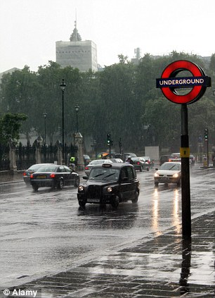 Downpours: Britain's damp weather was another popular moan among foreigners living here