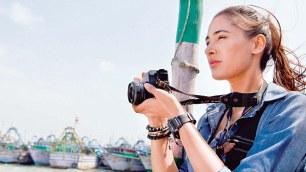 Portrait of female journalist