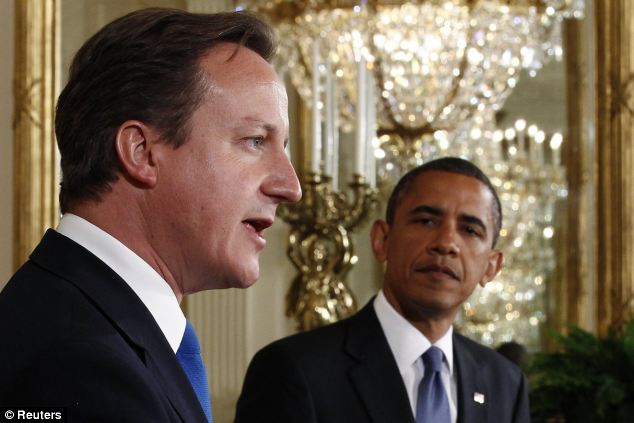 Strain: David Cameron's failure to secure UK backing for President Barack Obama's intervention in Syria threatens the special relationship