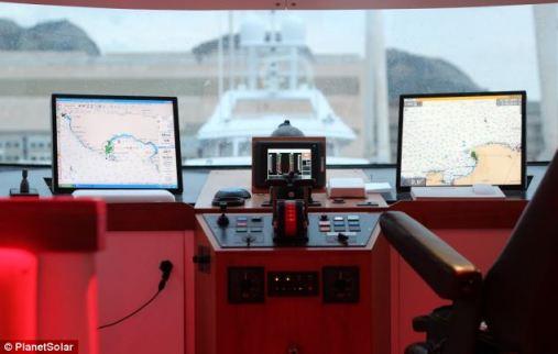 Con los requisitos de cero combustible y las emisiones de carbono cero, el barco puede hacerse a la mar abierto durante meses