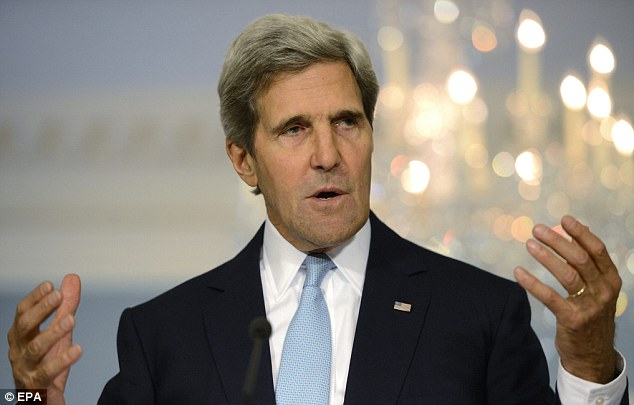 Secretary of State John Kerry delivers remarks on Syria at the State Department in Washington on Friday