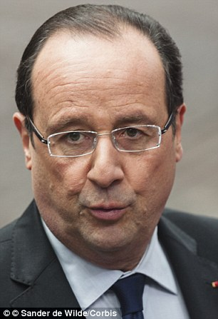 Determined: French President Francois Hollande has insisted he is ready to launch strikes on President Bashar Al-Assad's regime