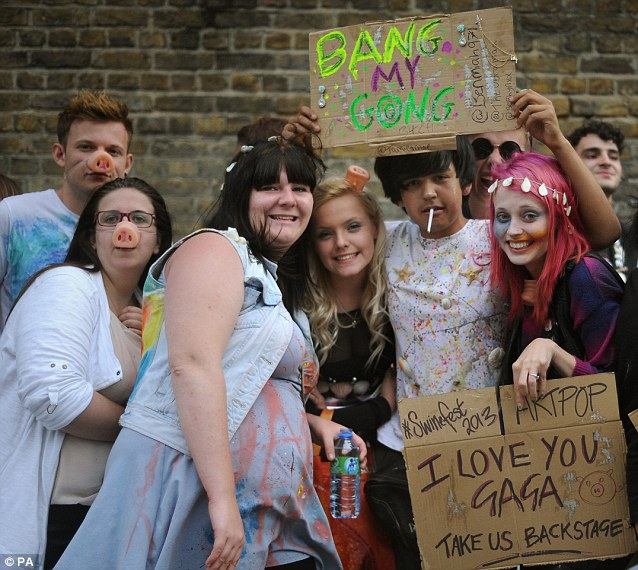 Swinefest 2013: The fans waited patiently outside the Camden venue on Sunday night with the love for Gaga keeping their spirits up