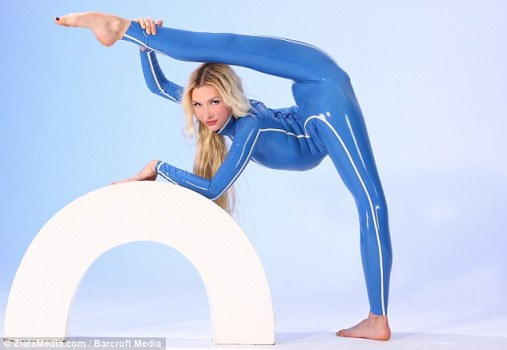 Passion: Zlata said she loves contorting her body into different shapes