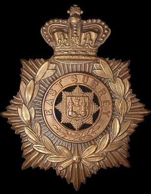 The regimental badge for the East Surrey regiment
