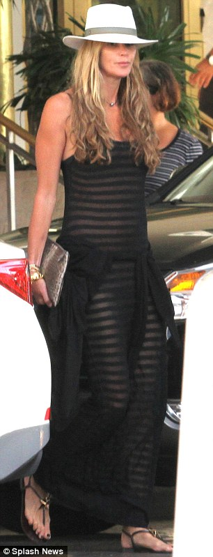 Elle Macpherson Sports A See Through Dress As Shes