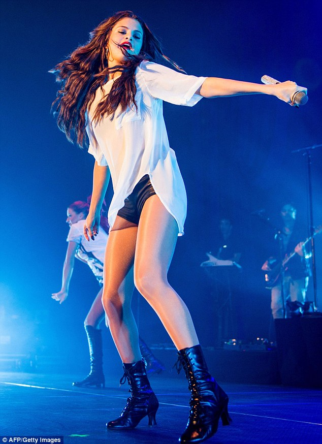 Come and get it: Selena Gomez sang her heart out to a packed house in Amsterdam, on Tuesday