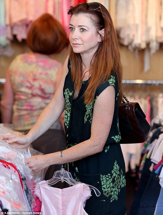 Dresses galore: Alyson had plenty of dresses to consider