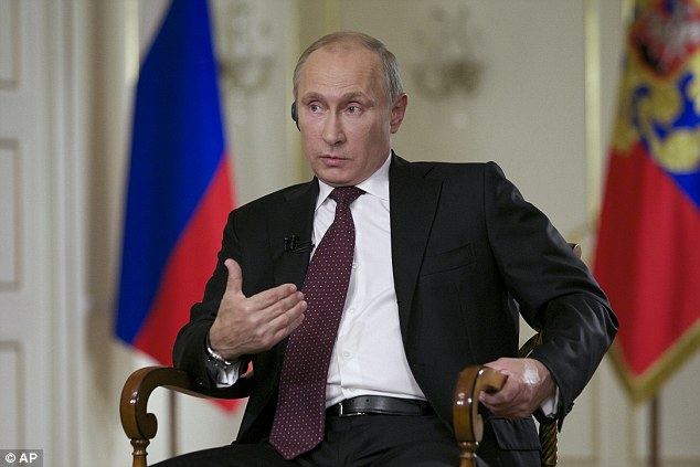 Warning the West: Putin sought to downplay the current chill in the U.S.-Russian relations and said that the two countries need to cooperate on a range of issues in the interests of global stability