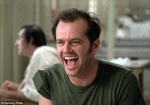 Classic: One of Jack's most noted roles was as Randle McMurphy in One Flew Over the Cuckoo's Nest