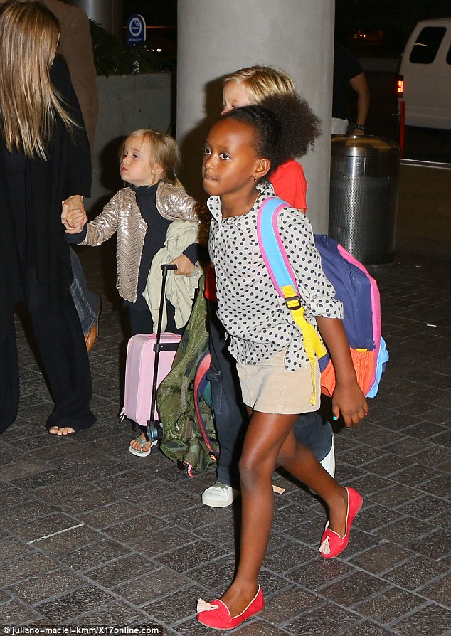 Supermodel in the making: Eight-year-old Zahara is already willowy, and showing a great sense of style