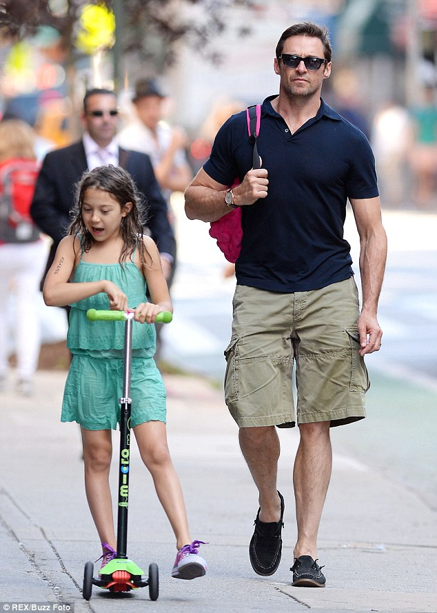 Hugh Jackman out and about