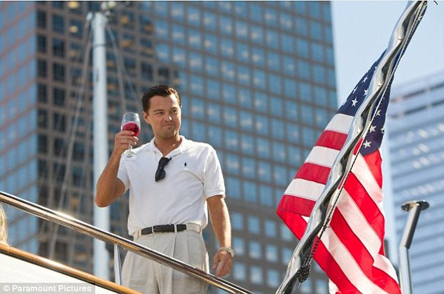The high life: DiCaprio portrays real-life Wall Street crook Jordan Belfort, who was indicted in 1998 on securities fraud and money laundering