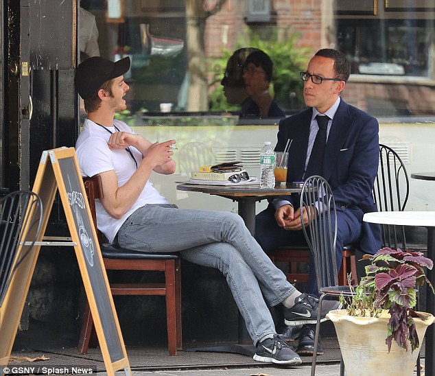 And relax: He sat back and whiled away his afternoon by chatting to his pal