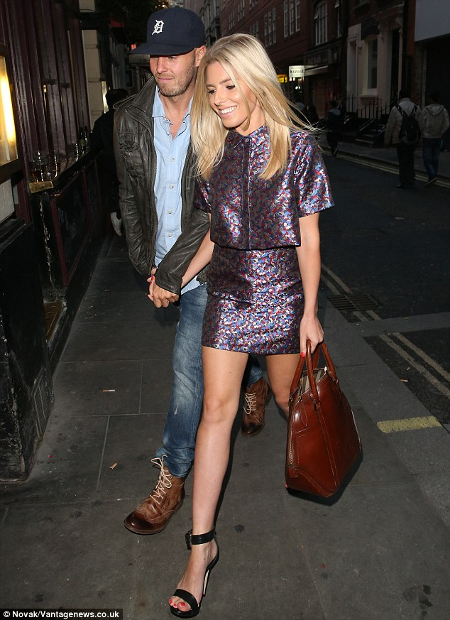 Transatlantic romance: News of Mollie and Jordan's relationship broke in April, despite the pair first having met back in 2009 when the music mogul worked on one of The Saturdays' album tracks