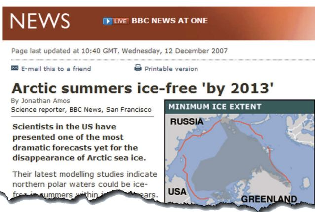 Image result for BBC arctic ice scare