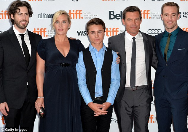 Cast and crew: (From left) Director Jason Reitman with Labor Day stars Kate Winslet, Gattlin Griffith, Josh Brolin, and James Van Der Beek have been busy promoting their film lately