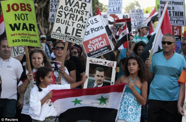 Polls show that t vanishing minority of Americans support striking Syria, and Obama will have to contend with a growing protest movement at home as he tries to convince Congress to endorse military action