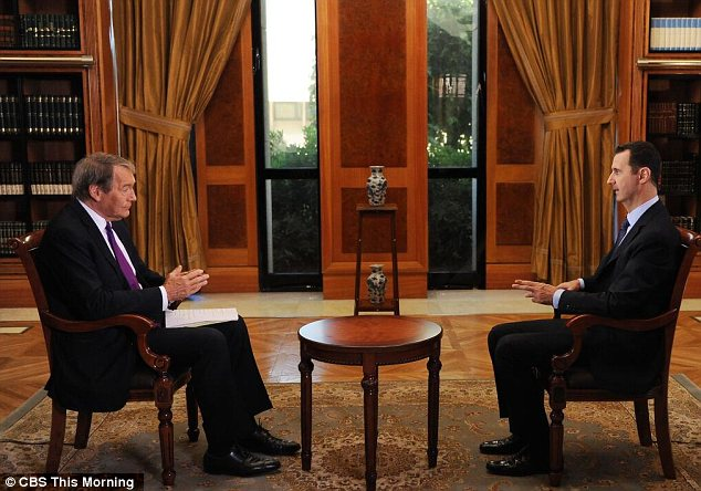 Charlie Rose interviewed the Syrian dictator in Damascus, in an interview previewed on CBS and slated for broadcast in its entirety on PBS Monday night