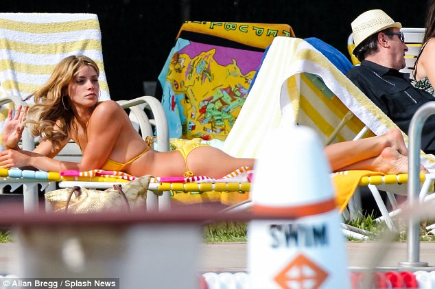 Relaxing while she can: It's a busy year for Ashley who also has three other movies coming up