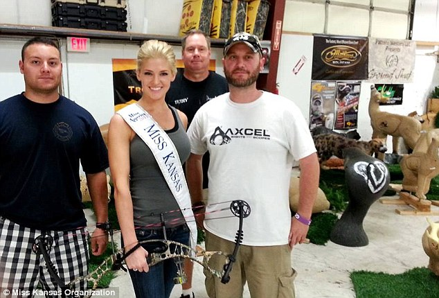 Great outdoors: Miss Kansas loves to shoot and hunt