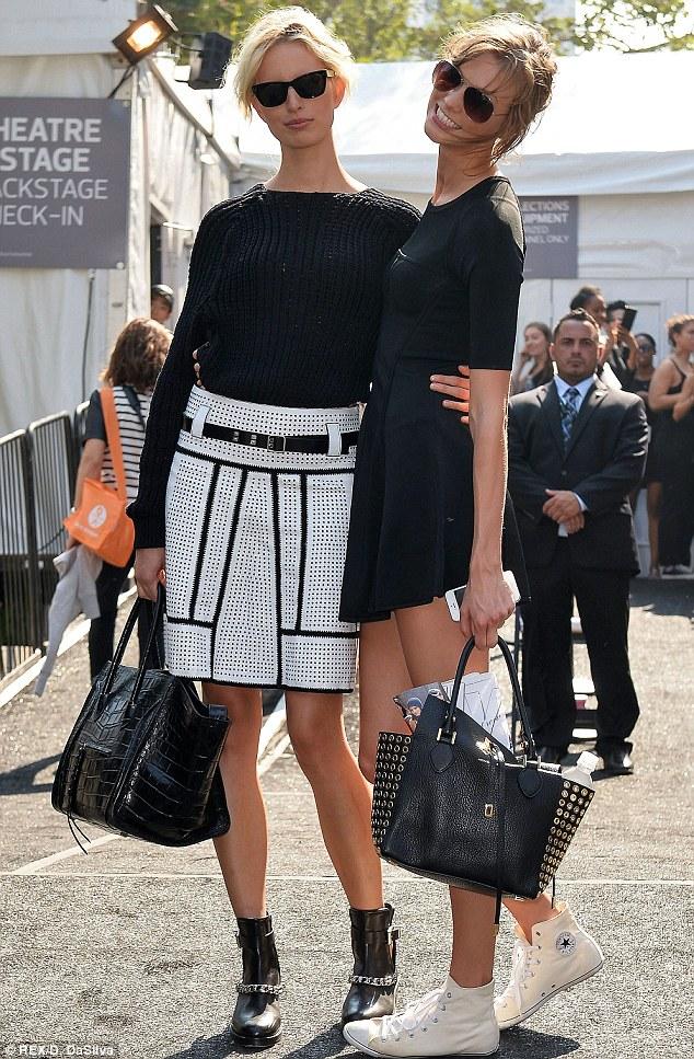 New York Fashion Week Karolina Kurkova And Karlie Kloss