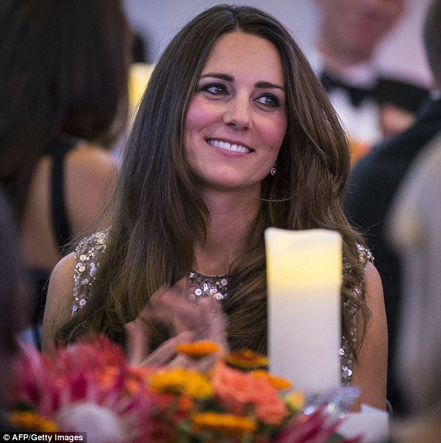 Gala dinner: The Duchess pictured inside the awards which aim to celebrate outstanding achievement in the field of African conservation