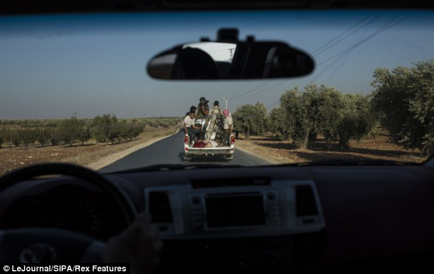 Anti-Assad fighters are seen here near Aleppo, in norther Syria