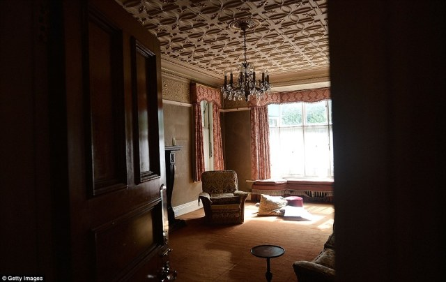 Fading glory: The mansion's morning room, where visitors would be taken when arriving at the house before lunch time to see the aristocratic owners