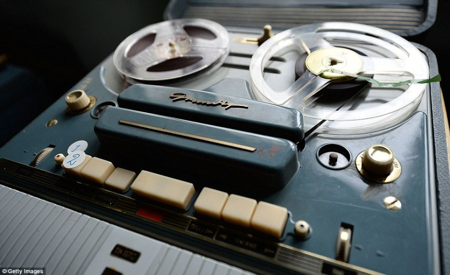 High-tech in the seventies: A reel to reel tape player found in one of the mansion's rooms